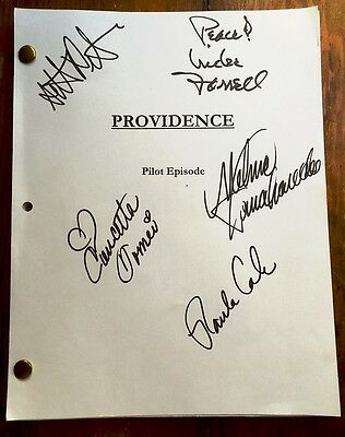 PROVIDENCE TV Series Pilot Script 1998 Signed Cast Melina Kanakaredes + 4