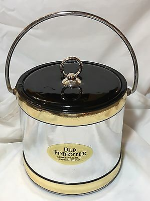 Vintage Old Forester Kentucky Bourbon Whisky Kraftware Ice Bucket Chrome Look