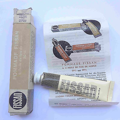 1975 Germany FISSAN Pomade Cream Ointment Vintage Medicine Unused in Box