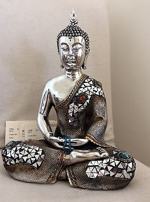 Large Beautifully Detailed Buddhas Statue. Embraced In Swarovski Elements