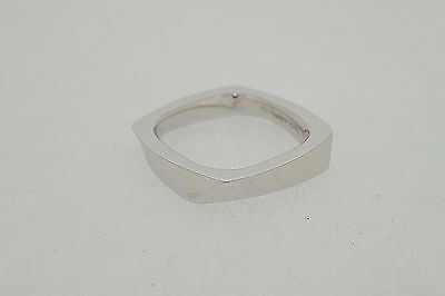 TIFFANY & CO. 18K White Gold Torque Ring Frank Gehry