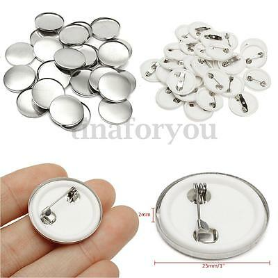 100pcs 25mm 1'' DIY Pin Badge Buttons Parts Supplies for Pro Maker Machine