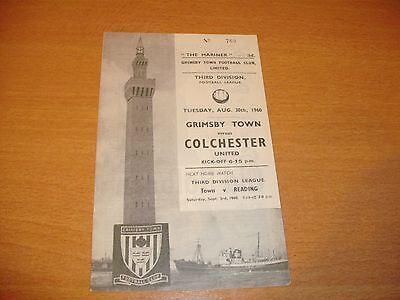1960 - 1961 GRIMSBY v COLCHESTER  LEAGUE