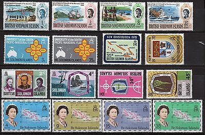 British Solomon Islands selection of four commemorative sets of stamps.
