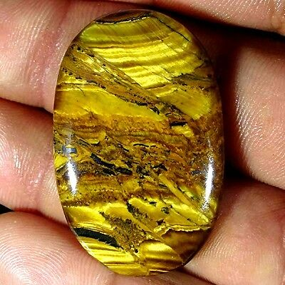 70.70Cts.PERFACT 100% NATURAL GOLDEN TIGER EYE OVAL CABOCHON UNTREATED GEMSTONE