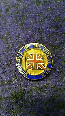 Comrades of the Great War WW1 enamel Badge