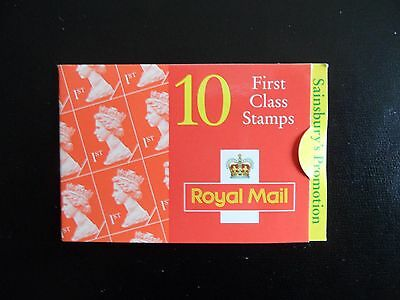 """Gb.10 X 1St (First) Class Royal Mail Stamp  Booklet """"sainsbury's Promotion"""". Mnh"""