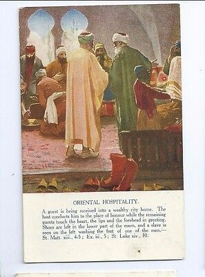 Postcard Oriental Hospitality Promoting Christianity