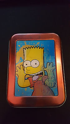 The Simpsons tin with holographic picture of Bart