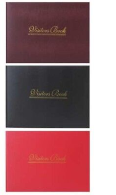 Hard Cover Leather Effect Visitor Guest Book Date Name Address Remarks Assorted