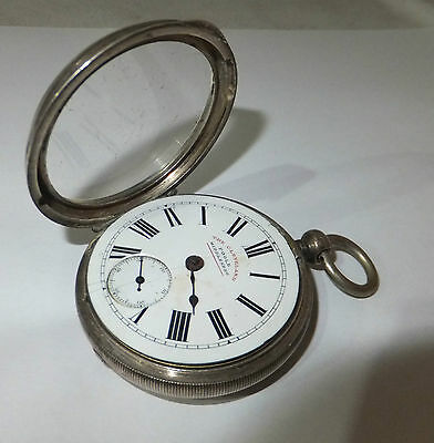 VICTORIAN The CLEVELAND Pocket WATCH Poole Silver CASED Antique BIRMINGHAM