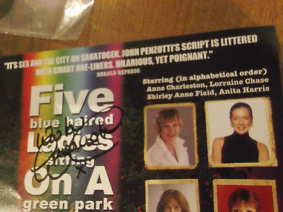 Theatre Flyer Hand Signed By Lorraine Chase And Christopher Beeny