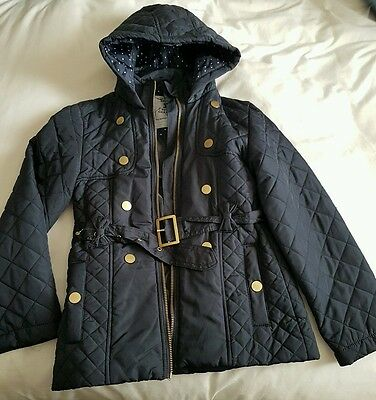 ** Girls Navy Blue Quilted Jacket 9-10**