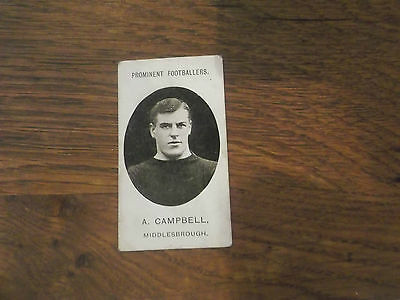 1907 Original Taddy Prominent Footballers Middlesbrough Player A Campbell