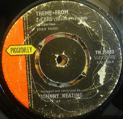 "Johnny Keating Theme From Z Cars Vintage Uk 1962 7"" Vinyl Single Tv Theme"
