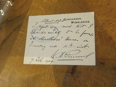 Signed Letter By Ada Cavendish Shakespearean Actress 1839-1895