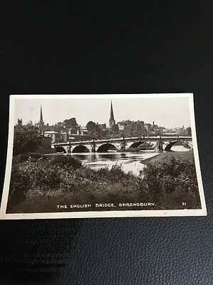 Antique Postcard Of The English Bridge Shrewsbury Shropshire