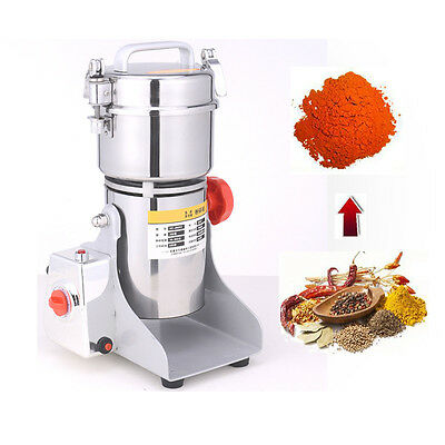Stainless Steel High-speed Family Medicial Grinder Mill Herb Pulverizer 300g