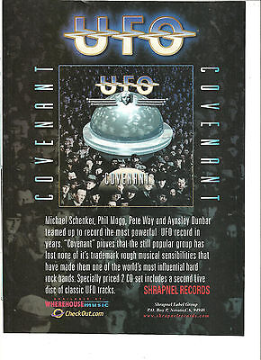 UFO, Covenant, Full Page Promotional Ad