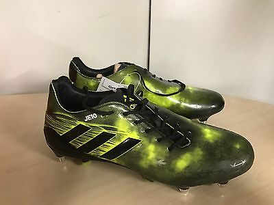 Adidas Crazyquick Malice SG Pro Rugby Boots  rrp £155 UK 10 Yellow and Black