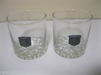 Cutty Sark Scotch Whiskey Pewter Emblem Cocktail Drink Glass Glasses