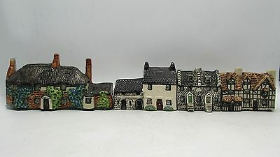 4 English Village Cottages TEY POTTERY Norfolk inc Thomas Hardy House Dorchester