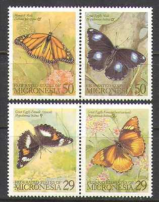 Micronesia 1993 Butterflies/Insects/Nature 4v set s1699