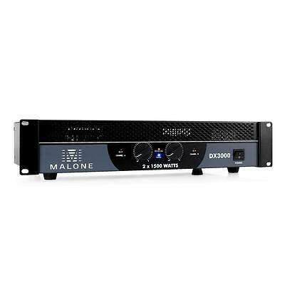 Ampli Pa Malone Dx 3000 Mosfet 3000W Rack 48Cm Bridgeable 1/2 Canaux Ground Lift
