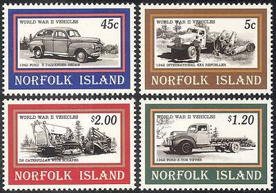 Norfolk Island 1995  WWII/Car/Lorries/Motors/Motoring/Transport 4v set (s4174)