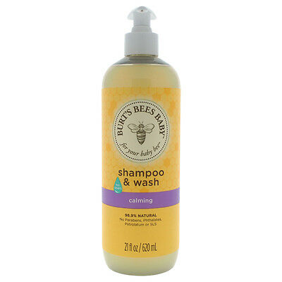 Baby Shampoo & Wash Calming by Burt's Bees for Kids - 21 oz Shampoo & Body Wash