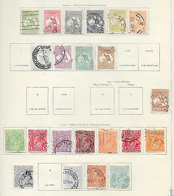 Australia stamps 1912 Collection of 22 stamps  HIGH VALUE!