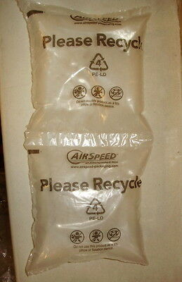 60-6x6 Sealed Air Bag Pouches Air Pillows Air Bubbles Packing Peaunts FREE SHIP