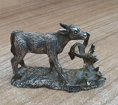 Vintage WAPW English Pewter Figurine Of A Calf