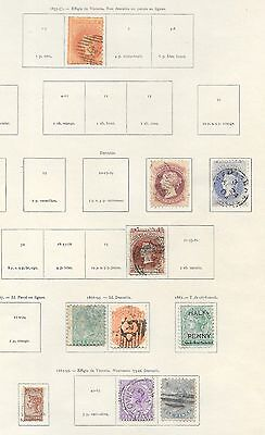 South Australia stamps 1855 Collection of 10 CLASSIC stamps  HIGH VALUE!