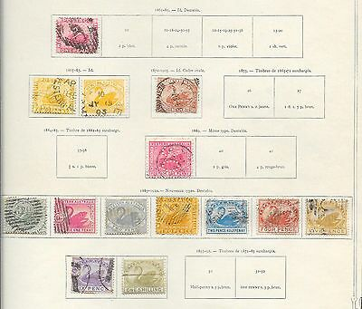 Western Australia stamps 1861 Collection of 14 stamps  HIGH VALUE!