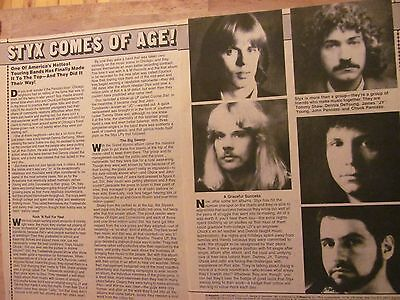 Styx, Two Page Vintage Clipping