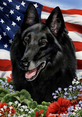 Garden Indoor/Outdoor Patriotic I Flag - Belgian Sheepdog 162041