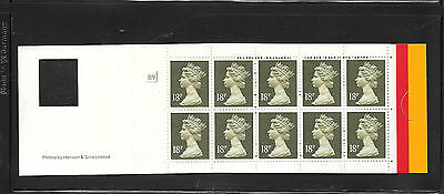 Machin - £1.80 Harrison barcode booklet GO1a + cyl B9 - Code C unmounted mint