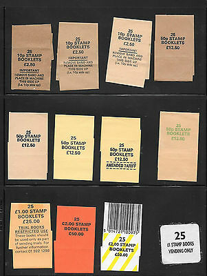 Machin  - folded booklets - 12 different booklet bundle wrappers
