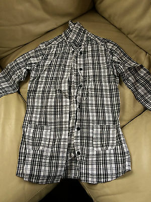 Girl's Long Sleeve Checked Shirt  - Age 9-10 Years - Fab Condition