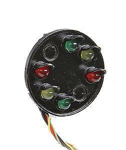 NJ International 3214 O Scale 6-Lite Disc LED Color Position Signal Head