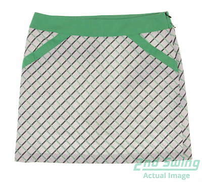 New Womens Cutter & Buck Annika Play Printed Golf Skort Size 4 White MSRP $90
