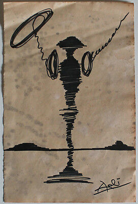 Ink drawing signed DALI'