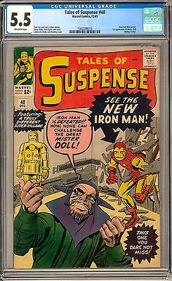 Tales of Suspense #48 CGC 5.5 (OW) 1st Red & Gold Armor