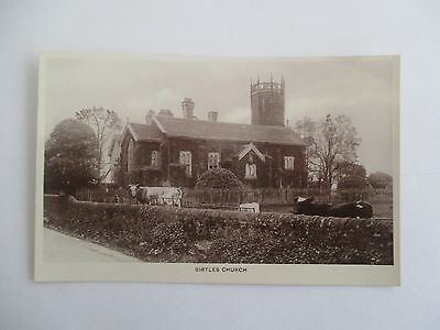 Early Vintage Real Photographic  Postcard Birtles Church Cheshire