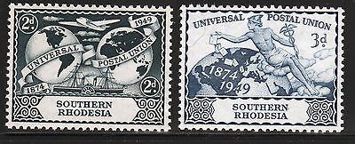 Omnibus Southern Rhodesia Universal Postal Union 1949 set of stamps.
