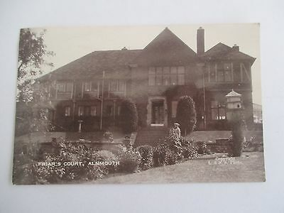 Early Vintage Real Photographic Postcard Friars Court Alnmouth Northumberland