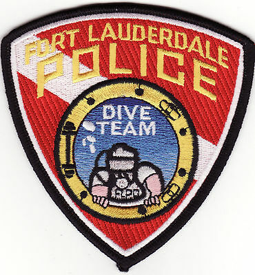 FL Fort Lauderdale Florida Dive Team Police Patch *New*