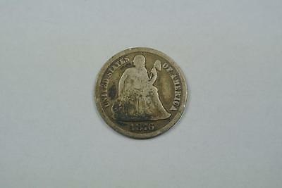 1876-CC Carson City Mint Seated Liberty Dime, Good Condition  - C2453