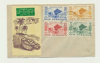 NEW HEBRIDES 1953, FIRST DAY COVER, 5,10,15&20c RATED